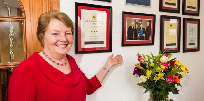 Margaret with some of her many awards